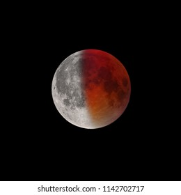Ending of Super Bloody Moon full eclipse