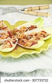Endive Salad,Vegetarian Food, Healthy Vegan Food on Plate. Light diet