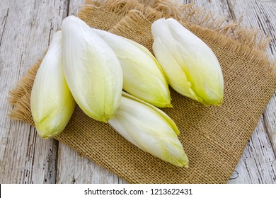 endives on a wooden table