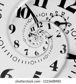 Endless clock concept, abstract clock.
