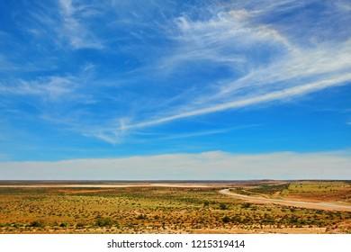 Endless flat plains of Australian outback