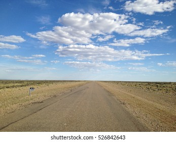 endless road in Patagonia, Argentina