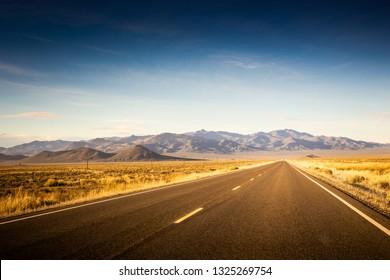 The endless road thru desert