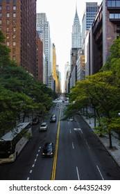 Endless streets of Manhattan New York