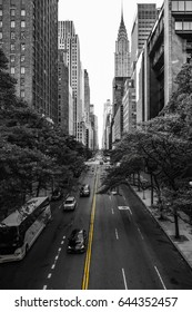 Endless streets of Manhattan New York