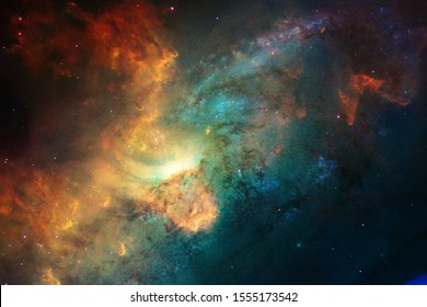 Endless universe. Incredibly beautiful science fiction wallpaper. Elements of this image furnished by NASA