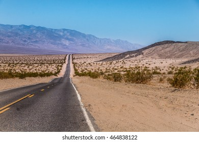 Endless US Highway  , California - Picture made on a motorcycle road trip through western USA
