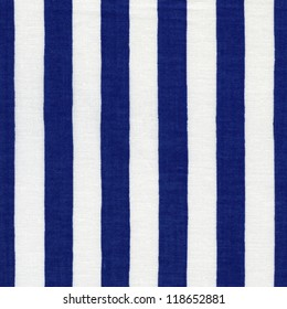 Endless white and blue striped fabric