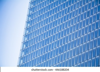 endless windows of modern skyscraper in the city