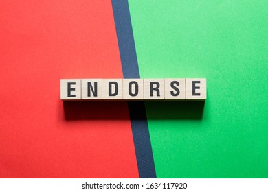 Endorse word concept on cubes