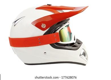 Enduro motorcycle helmet with goggles