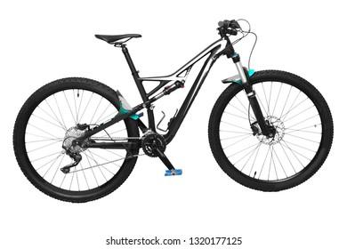 Enduro mountain bike isolated on a white background