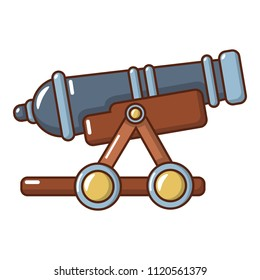 Enemy cannon icon. Cartoon illustration of enemy cannon icon for web.