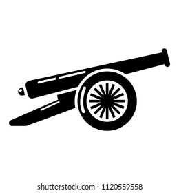 Enemy cannon icon. Simple illustration of enemy cannon icon for web.