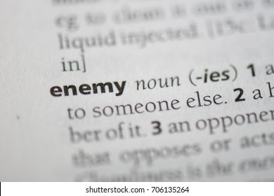 enemy word in a dictionary. enemy concept