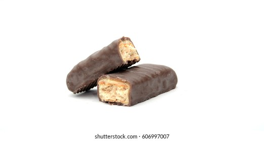 energy bar on a white background