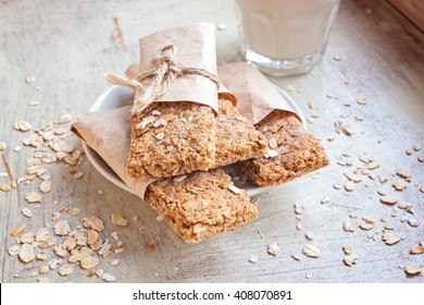 Energy bars - snack for healthy still life selective focus