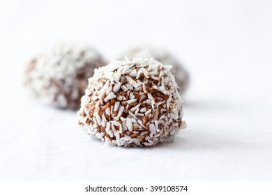 energy bites on a white background