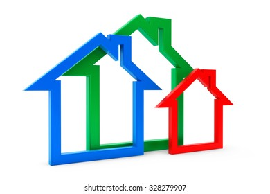 Energy Efficiency House Icons on a white background