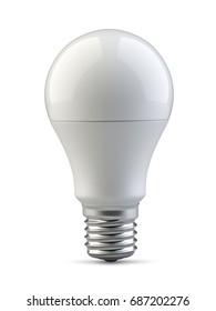 Energy efficiency LED light bulb. Power saving lamp. 3d rendering illustration isolated of background.