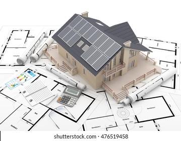 Energy efficient construction - 3D Rendering