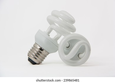 Energy efficient light bulb isolated on white.