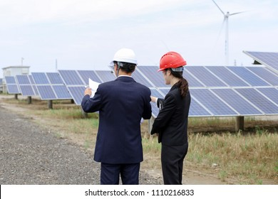 Energy engineers at the survey site