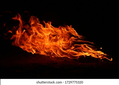 ) Energy flames that burn at night are cut It is a flaming bird shape