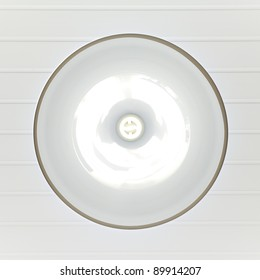 Energy lamp in bowl from below view