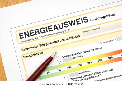 Energy performance certificate, like its used for german houses