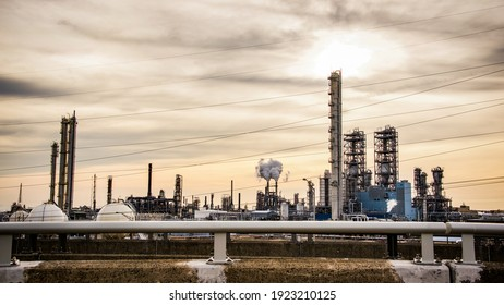 Energy Plant on the New jersey Turnpike during Covid-19 Stay Home Order