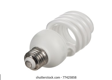 Energy Saving Bulb on a white background