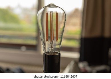 Energy saving lamp in the hotel room