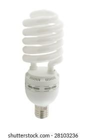 Energy saving lamp ( lightbulb) isolated over white background