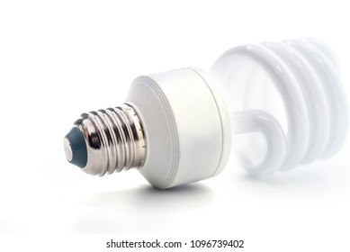 Energy saving lamp on a white background