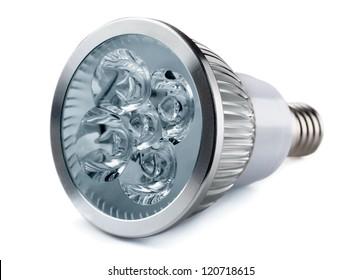 Energy saving LED light bulb isolated on white
