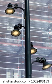 Energy saving led street lights in Rotterdam in the Netherlands