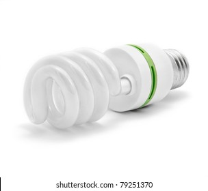 Energy saving light bulb with green line