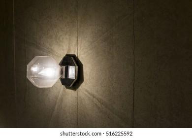 energy saving light bulb in hanging lamp
