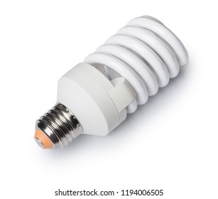 Energy saving light bulb isolated on white