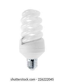 Energy saving light bulb, isolated on white