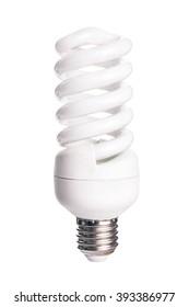 Energy saving light bulb isolated on white background