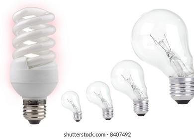energy saving on a white background