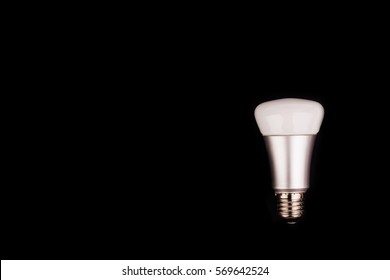 energy saving wifi light bulb on white background. Internet, energy saving and  digital lifestyle concept