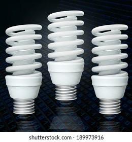 Energy savings lamps - 3d rendered illustration