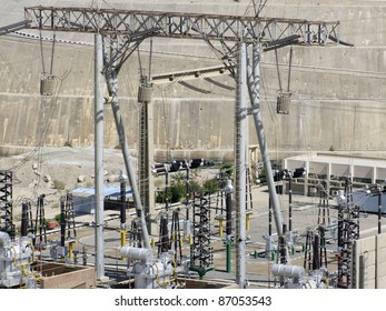 energy theme showing a generating plant in Aswan (Egypt) in sunny ambiance