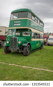Enfield, Middlesex, England, UK - May 24, 2015: 1936 AEC Regent 1 Provincial double decker bus.