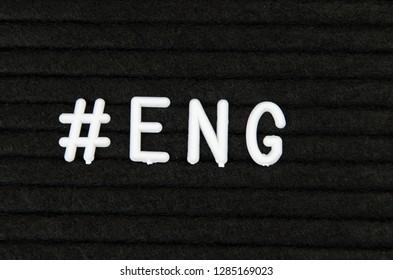 ENG, English language abbreviation