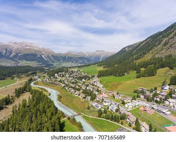 Engadine Valley, alpine village of Pontresina