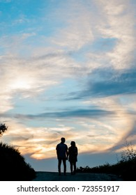 Engaged Couple Silhouette